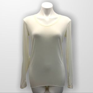 KIT & ACE Long Sleeve Scoop Neck Tee Size 4